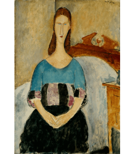 Amedeo Modigliani - Portrait of Jeanne Hebuterne, Sitting. Printing on canvas