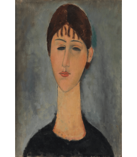 Stampa su tela: Amedeo Modigliani - Ritratto di Mme Zborowska