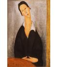 Stampa su tela: Amedeo Modigliani - Ritratto di una donna polacca