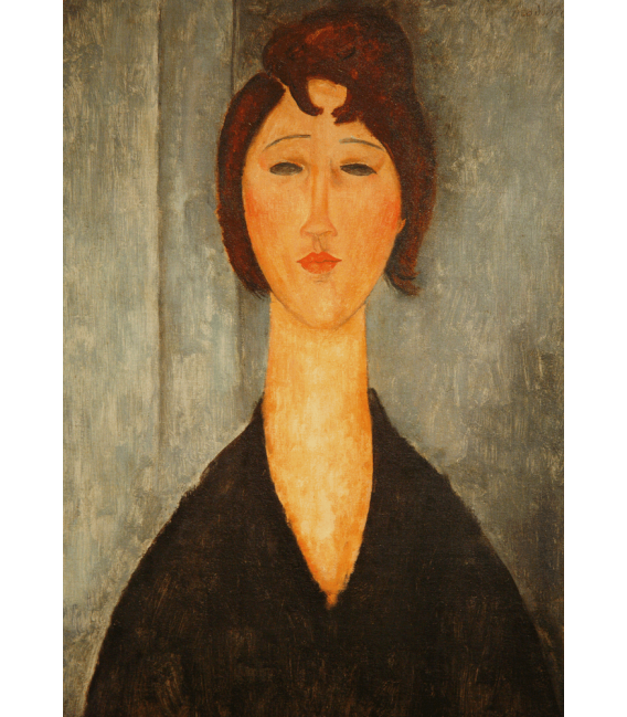 Printing on canvas: Amedeo Modigliani - Portrait of a young woman