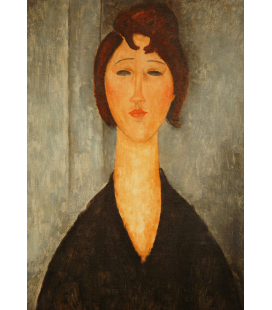 Amedeo Modigliani - Portrait of a young woman. Printing on canvas