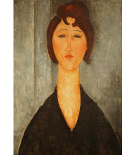 Amedeo Modigliani - Ritratto di una giovane donna. Stampa su tela