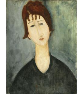 Stampa su tela: Amedeo Modigliani - Ritratto Femminile