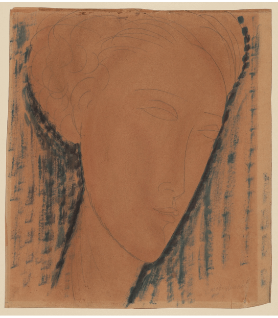 Printing on canvas: Amedeo Modigliani - Head of girl