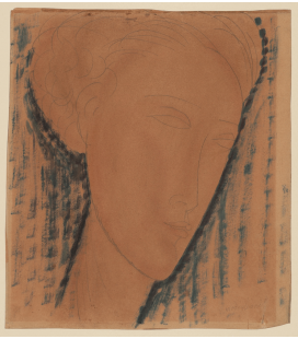 Stampa su tela: Amedeo Modigliani - Testa di Ragazza