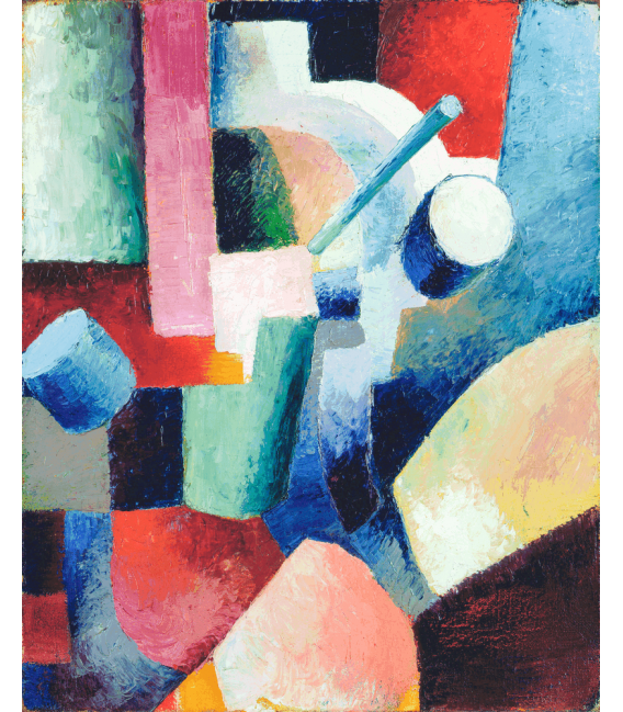 Printing on canvas: August Macke - Colored Composition of Forms
