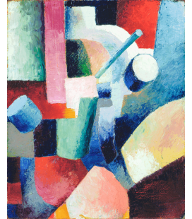 Stampa su tela: August Macke - Colored Composition of Forms