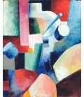 August Macke - Colored Composition of Forms. Printing on canvas