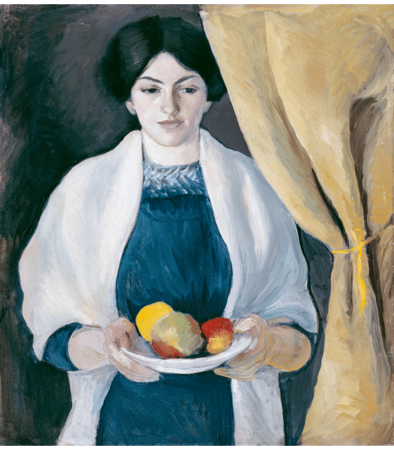 Printing on canvas: August Macke - Portrait with Apples