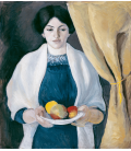 August Macke - Portrait with Apples. Printing on canvas