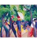 August Macke - Promenade. Printing on canvas
