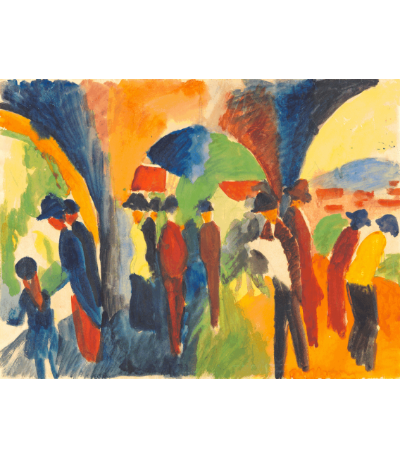 Printing on canvas: August Macke - Under the arbors of Thun