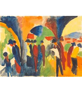 August Macke - Sotto gli archi di Thun. Stampa su tela