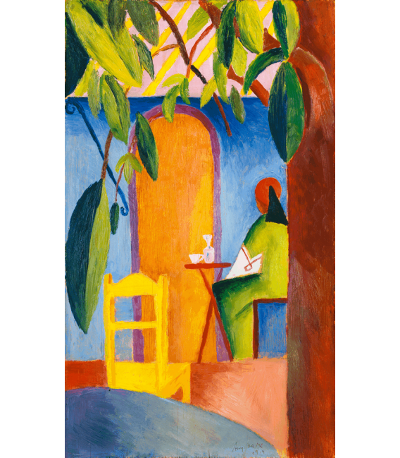 Printing on canvas: August Macke - Türkisches Café