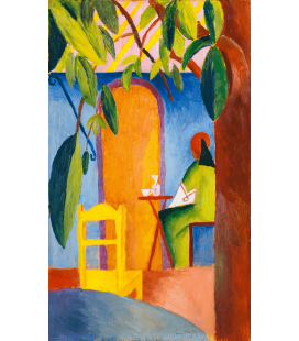 August Macke - Türkisches Café. Printing on canvas