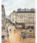 Camille Pissarro - Rue Saint-Honoré, nel pomeriggio. Effetto pioggia. Stampa su tela