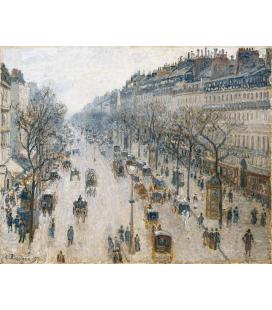 Camille Pissarro - Boulevard Montmartre, Inverno. Stampa su tela