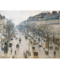 Camille Pissarro - Boulevard Montmartre, Winter. Printing on canvas