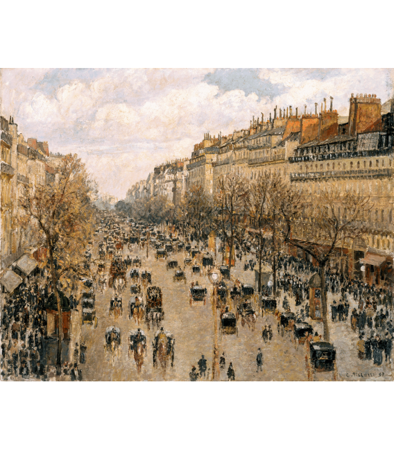 Stampa su tela: Camille Pissarro - Boulevard Montmartre