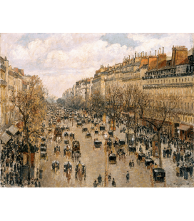 Camille Pissarro - Boulevard Montmartre. Printing on canvas