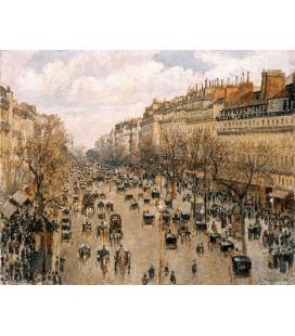 Camille Pissarro - Boulevard Montmartre. Stampa su tela