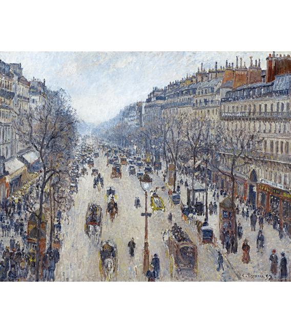 Printing on canvas: Camille Pissarro - Boulevard Montmartre