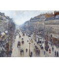 Camille Pissarro - Boulevard Montmartre, mattina, tempo nuvoloso. Stampa su tela