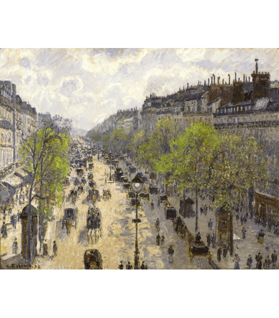 Printing on canvas: Camille Pissarro - Boulevard Montmartre