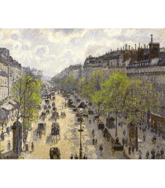Stampa su tela: Camille Pissarro - Boulevard Montmartre, Spring