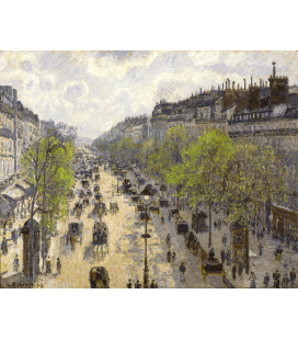 Camille Pissarro - Boulevard Montmartre, Spring. Printing on canvas