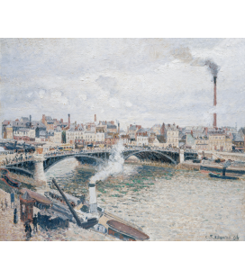 Camille Pissarro - Morning, a cloudy day. Printing on canvas