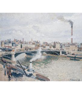 Camille Pissarro - Mattina, un giorno nuvoloso. Stampa su tela