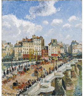 Stampa su tela: Camille Pissarro - The Pont Neuf