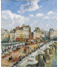 Camille Pissarro - The Pont Neuf. Printing on canvas