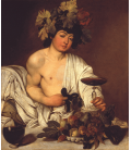 Printing on canvas: Caravaggio - Young Bacchus