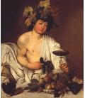 Caravaggio - Bacco adolescente. Stampa su tela