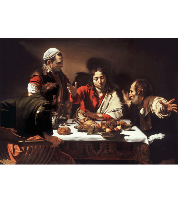Stampa su tela: Caravaggio - Cena in Emmaus