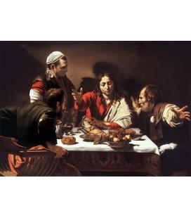 Caravaggio - Cena in Emmaus. Stampa su tela