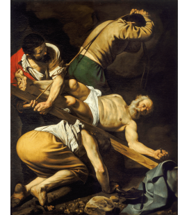 Caravaggio - The Crucifixion of St. Peter. Printing on canvas