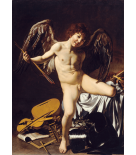 Caravaggio - Cupid as Victor. Printing on canvas