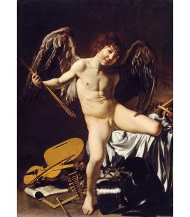 Caravaggio - Cupido come Vincitore. Stampa su tela