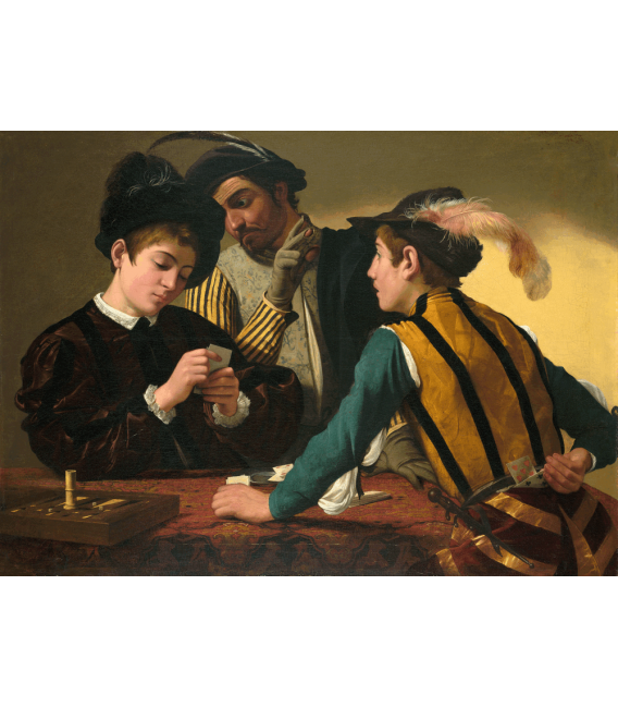 Stampa su tela: Caravaggio - I giocatori di carte
