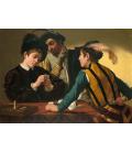 Caravaggio - I giocatori di carte. Stampa su tela