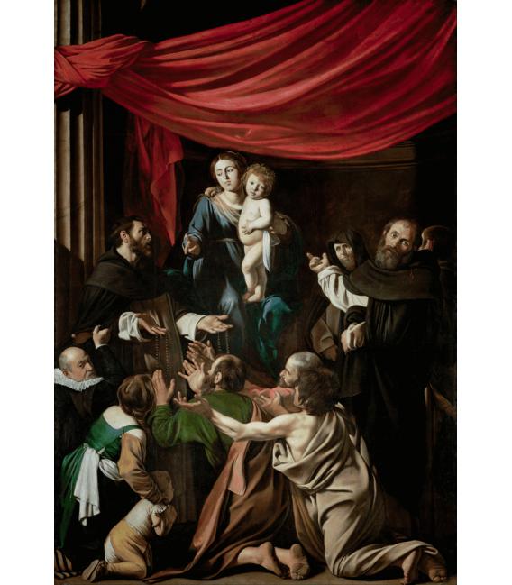 Stampa su tela: Caravaggio - Madonna del Rosario