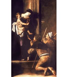 Caravaggio - Madonna di Loreto. Stampa su tela
