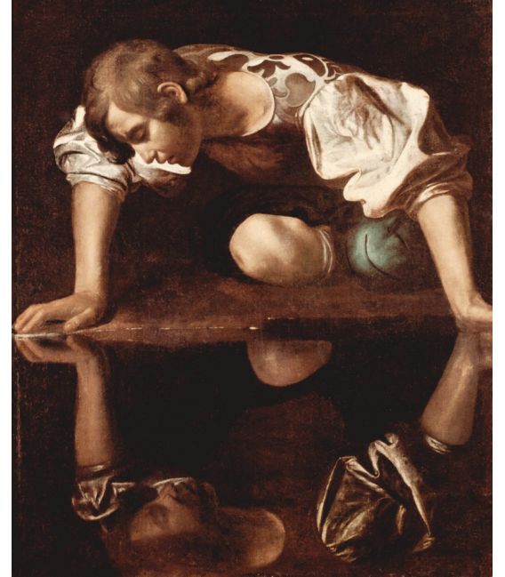 Stampa su tela: Caravaggio - Narciso