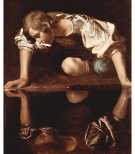 Caravaggio - Narciso. Stampa su tela