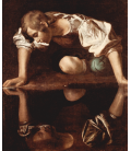 Printing on canvas: Caravaggio - Narcissus