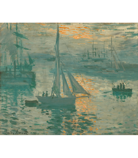 Printing on canvas: Claude Monet - French Sunrise (Marine)
