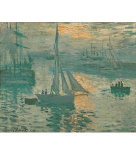 Stampa su tela: Claude Monet - Alba francese (Marine)